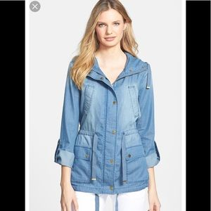 Michael Kors rollover chambray jacket